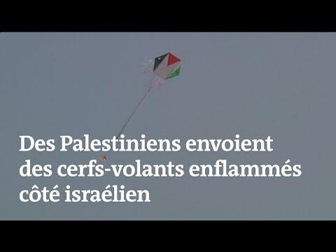 Des Palestiniens envoient des cerfs-volants enflammés côté israélien