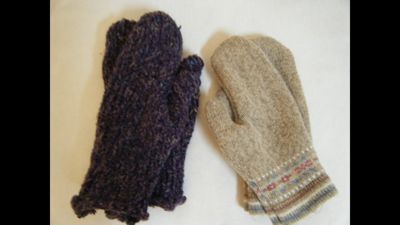 Mittens from an old sweater 99