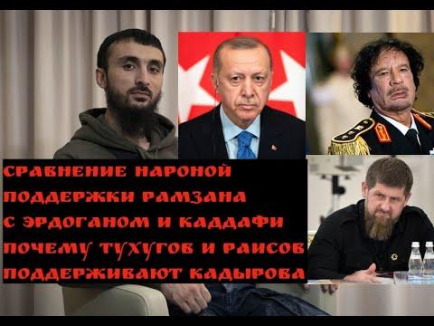 Сравнение РАМЗАНА с ЭРДОГАНОМ и КАДДАФИ.Почему РАИСОВ И ТУХУГОВ поддерживают Кадырова?/ТУМСО