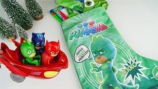 Pj Masks Super Pigiamini - La Calza della Befana di Geco piena di sorprese [Unboxing italiano]