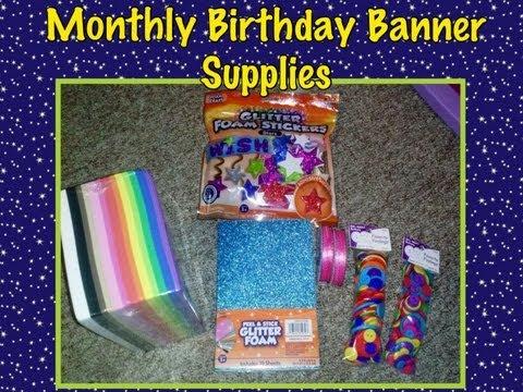 Monthly Birthday Banner