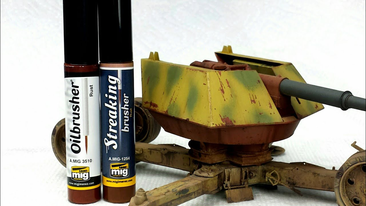 WTF is Mig AMMO's Streakingbrusher? Product Review for Weathering Model  Tanks