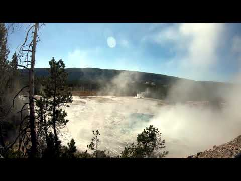 Artemesia Geyser Full Eruption Yellowstone National Park - HD
