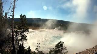 Artemesia Geyser Full Eruption Yellowstone National Park