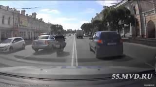 Погоня за мотоциклом в Омске