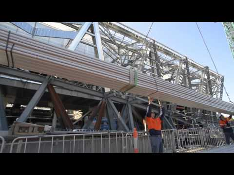 Installation of Kingspan KingZip SF - Adelaide Convention Centre