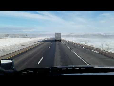 I-80 Wyoming January 2018.
