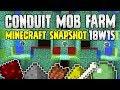 Minecraft 1.13 CONDUIT MOB FARM? | Snapshot 18W15 | Concept Build