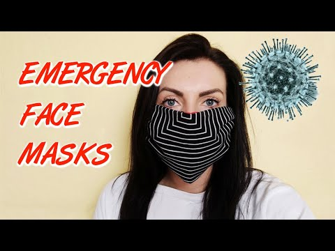 Emergency face masks - 5 easy, quick, no sew ideas