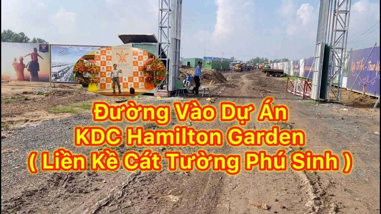 Đường vào dự án khu dân cư Hamilton Garden đức hoà long an | Cập nhật tiến độ ngày 10 – 07 – 2020