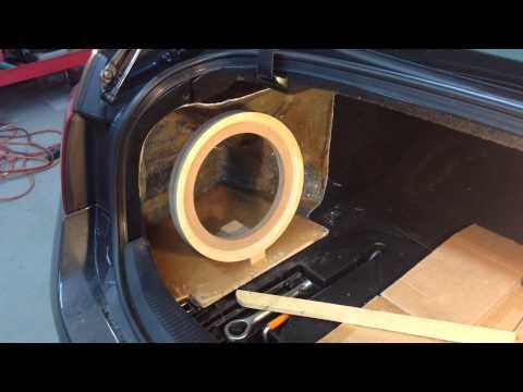 Lexus GS Fiberglass Subwoofer Box PART 1