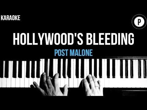 Post Malone - Hollywood's Bleeding Karaoke Slower Acoustic Piano Instrumental Lyrics Mp3