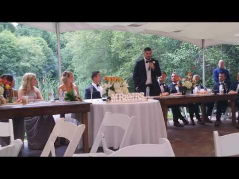 Best man, officiant, little brother wedding speech