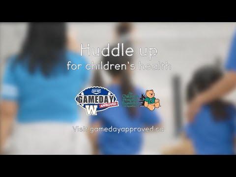 Huddle Up for Children's Health | Winnipeg Blue Bombers