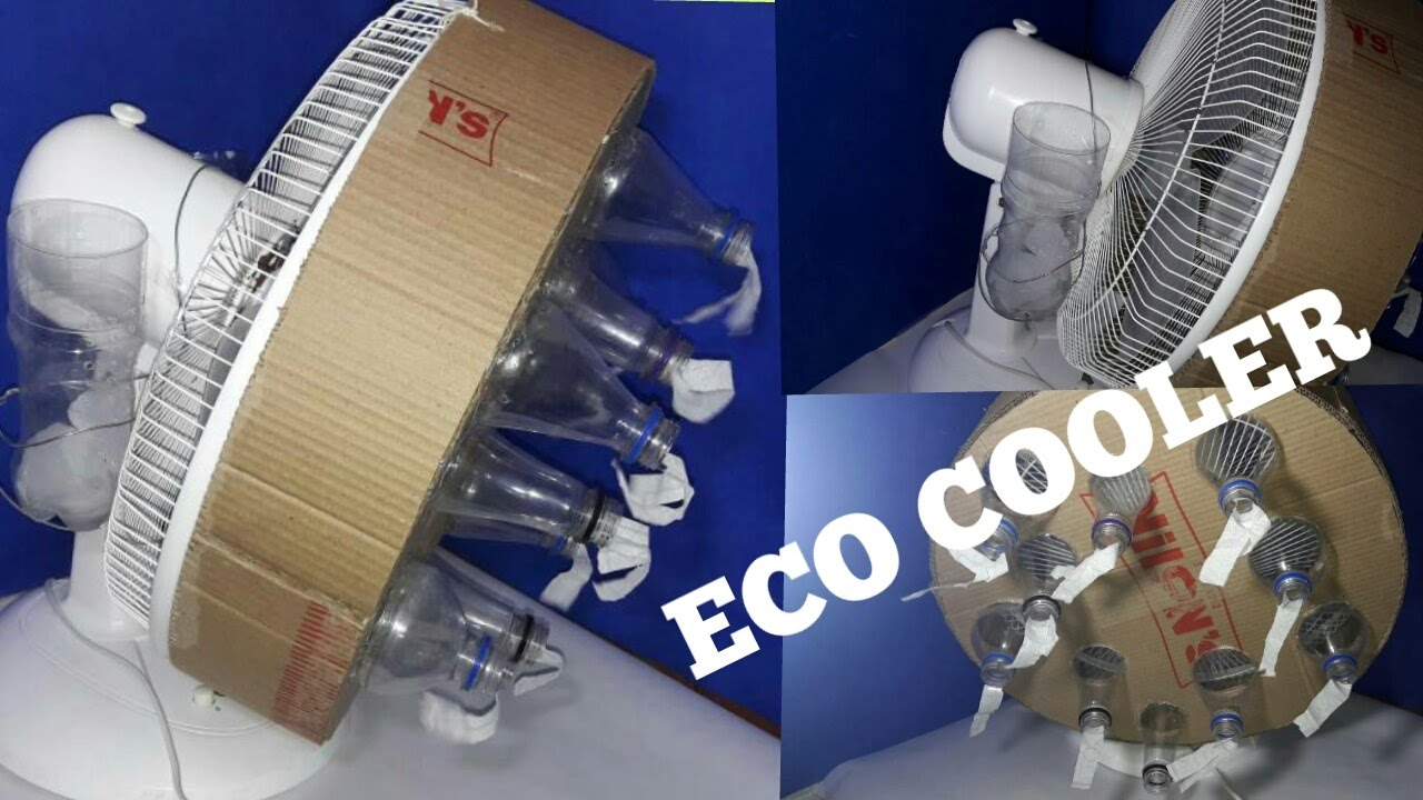 How to make eco air cooler with normal table fan and for How to make a cooler table
