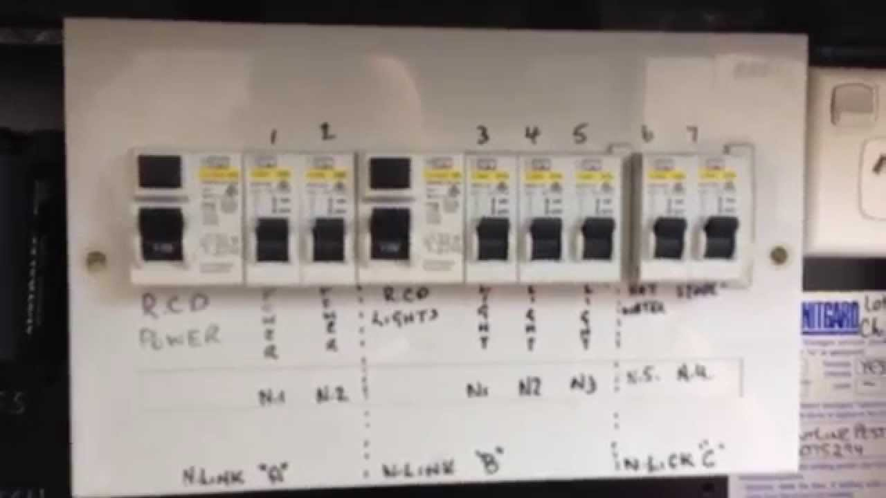 Typical Australian Domestic Switch Board Youtube Wiring Diagram In Addition 2 Pole Circuit Breaker