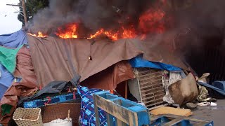 Chinatown Tent Fire Salinas,Ca.