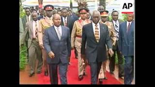KENYA: NAIROBI: PRESIDENT DANIEL ARAP MOI SWORN IN UPDATE (2)