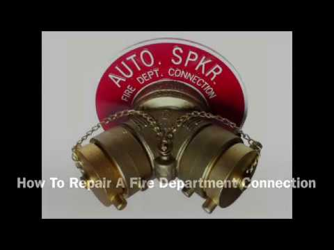 Fire Department Connection Swivel Repair - YouTube