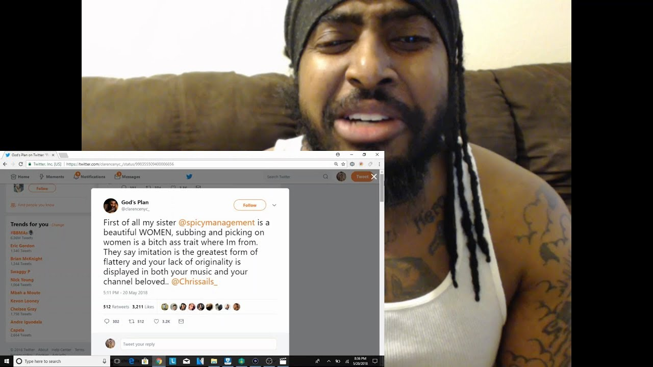 Download : ClarenceNyc Vs Chris Sails Beef On Twitter