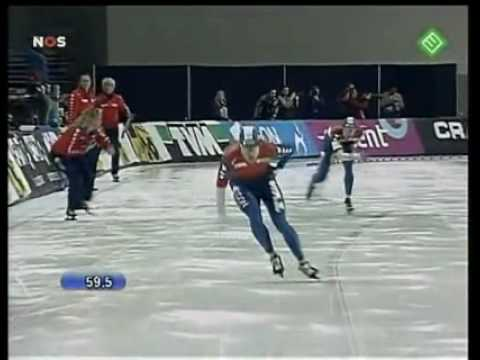 World Single Distances Championship 2007 1500m Jan Bos vs Erben Wennemars.FLV