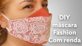 Máscara Fashion 3D Com Renda
