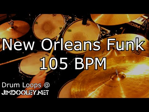 [20 Minute Beat] New Orleans Funk Beat 105 BPM