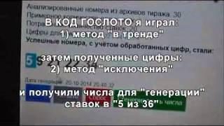 Выигрыш за 1,5 месяца в гослото 5 из 36 через программу 157860 рублей!