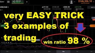 Very EASY to USE RSI - 3 example - WIN RATIO 98% - best iq option strategy