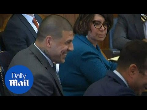 Killer Aaron Hernandez smirks as date is set for next trial - Daily Mail