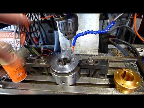 Drilling and tapping a bolt circle with a cheap Digital Readout.