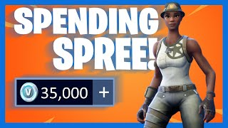 SPENDING 35,000+ V-Bucks in FORTNITE!! (Spending Spree #11)