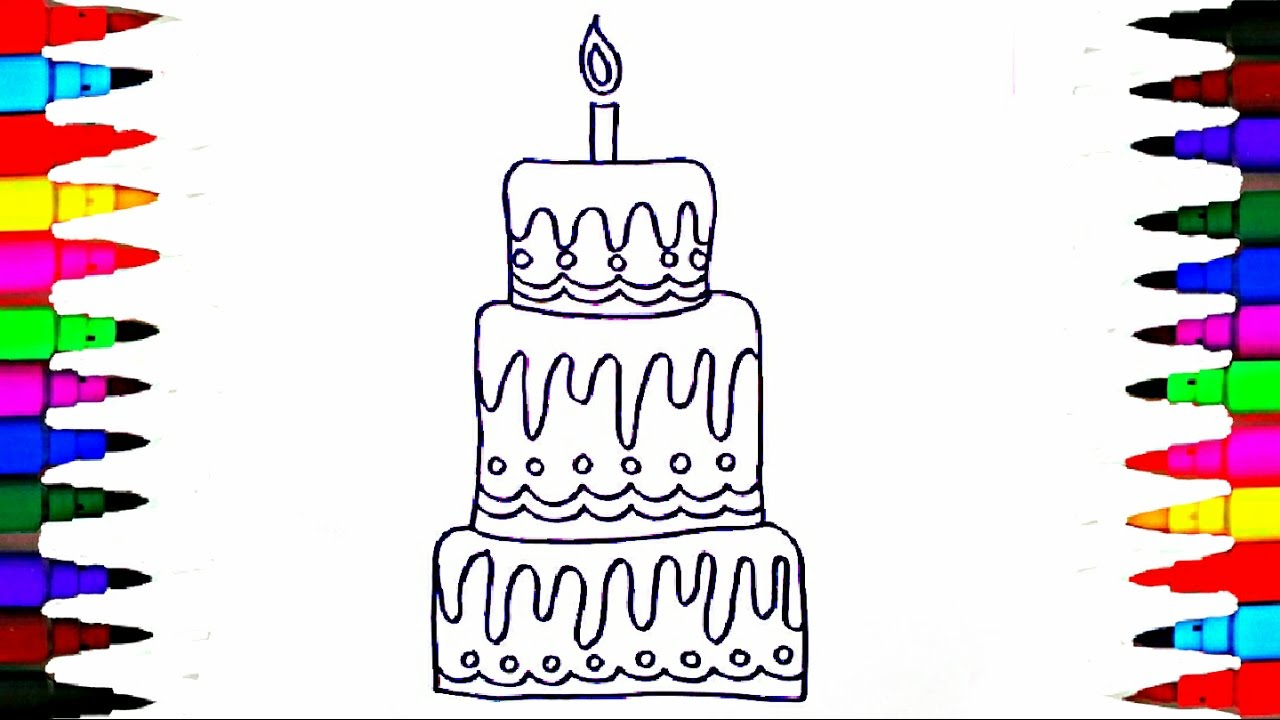 Learn To Draw And Coloring Layered Cake Pages