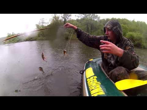 Рыбалка экраном в дождь