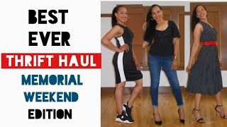 Best Ever THRIFT HAUL | Memorial Weekend Edition