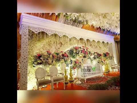 dekorasi pernikahan mewah meskipun di rumah - youtube