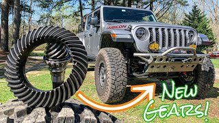 Installing NEW GEARS in my Jeep Gladiator!!  Axle Build Episode 2
