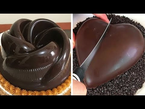 Satisfying Chocolate HEART Cake | Yummy Chocolate Cake Hacks | Easy Cake Decorating Recipes