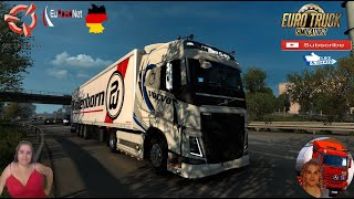 "Euro Truck Simulator 2 (1.38) Road to Bremerhaven Germany EuRoadNet map v1.0 Volvo FH 2012 DLC Tuning Pack by SCS Schmitz Ownable Trailer Mega Pack v17 by AT Truckstyling Animated gates in companies v3.7 [Schumi] Real Company Logo v1.0 [Schumi] Company addon v1.8 [Schumi] Trailers and Cargo Pack by Jazzycat Motorcycle Traffic Pack by Jazzycat FMOD ON and Open Windows Naturalux Graphics and Weather Spring Graphics/Weather v3.6 (1.38) by Grimes Test Gameplay ITA Europe Reskin v1.0 + DLC's & Mods  SCS Software News Iberian Peninsula Spain and Portugal Map DLC Planner...2020 https://www.youtube.com/watch?v=NtKeP0c8W5s Euro Truck Simulator 2 Iveco S-Way 2020 https://www.youtube.com/watch?v=980Xdbz-cms&t=56s Euro Truck Simulator 2 MAN TGX 2020 v0.5 by HBB Store https://www.youtube.com/watch?v=HTd79w_JN4E  #TruckAtHome #covid19italia Euro Truck Simulator 2    Road to the Black Sea (DLC)    Beyond the Baltic Sea (DLC)   Vive la France (DLC)    Scandinavia (DLC)    Bella Italia (DLC)   Special Transport (DLC)   Cargo Bundle (DLC)   Vive la France (DLC)    Bella Italia (DLC)    Baltic Sea (DLC) Iberia (DLC)   American Truck Simulator New Mexico (DLC) Oregon (DLC) Washington (DLC) Utah (DLC) Idaho (DLC) Colorado (DLC)     I love you my friends Sexy truck driver test and gameplay ITA  Support me please thanks Support me economically at the mail vanelli.isabella@gmail.com  Roadhunter Trailers Heavy Cargo  http://roadhunter-z3d.de.tl/ SCS Software Merchandise E-Shop https://eshop.scssoft.com/  Euro Truck Simulator 2 http://store.steampowered.com/app/227... SCS software blog  http://blog.scssoft.com/  Specifiche hardware del mio PC: Intel I5 6600k 3,5ghz Dissipatore Cooler Master RR-TX3E  32GB DDR4 Memoria Kingston hyperX Fury MSI GeForce GTX 1660 ARMOR OC 6GB GDDR5 Asus Maximus VIII Ranger Gaming Cooler master Gx750 SanDisk SSD PLUS 240GB  HDD WD Blue 3.5"" 64mb SATA III 1TB Corsair Mid Tower Atx Carbide Spec-03 Xbox 360 Controller Windows 10 pro 64bit"