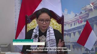 Indonesian Foreign Minister Marsudi meets Vietnamese counterpart