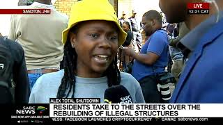 UPDATE: Alex protesters arrive in Sandton