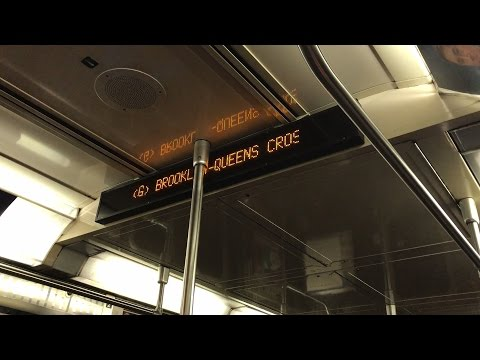 NYC Subway HD 60fps: Riding R68 SEPSA Electronic Info Sign & NTT Door Chime Test Train on The G