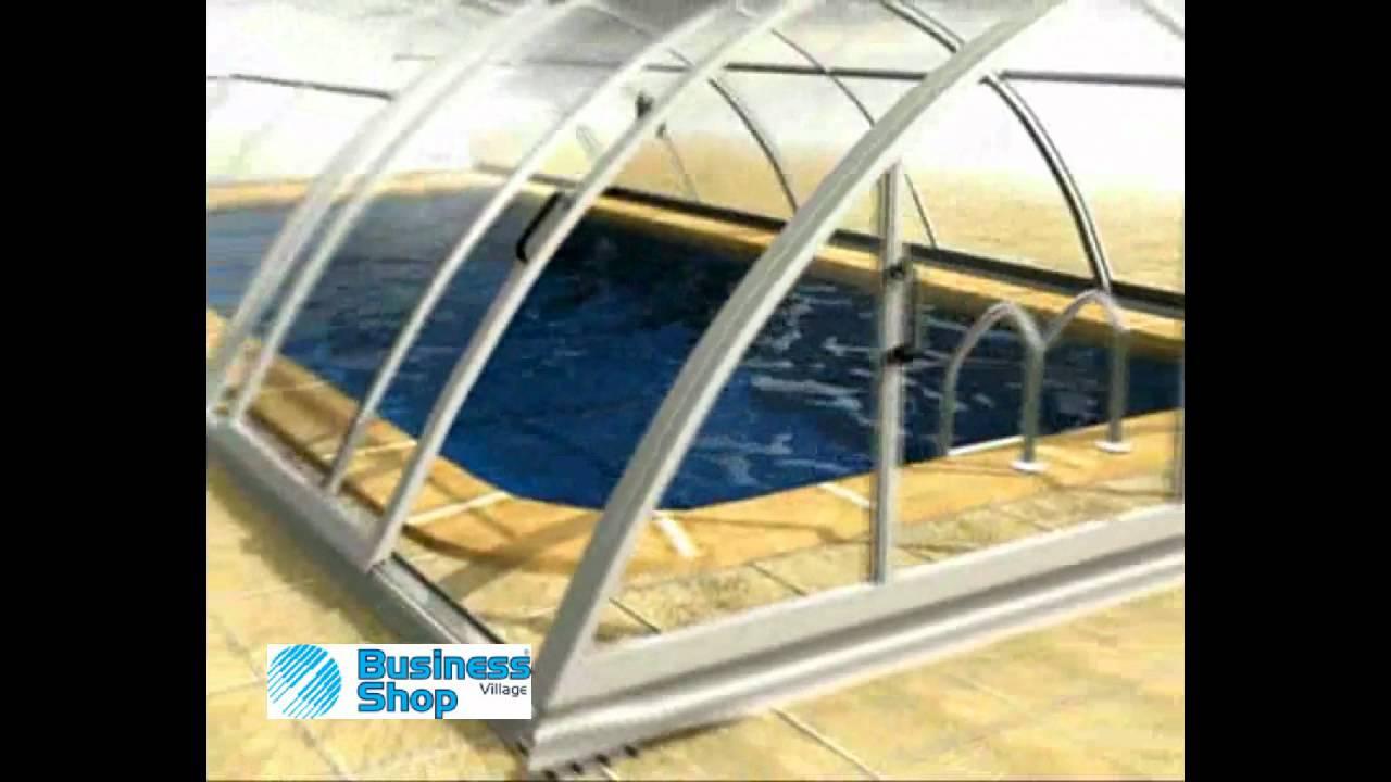 Copertura Telescopica per piscina Klasik Idealcover.avi - YouTube