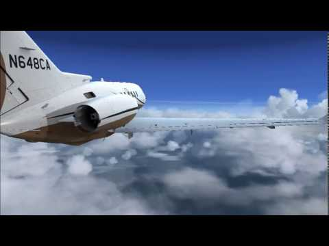 fsx executive flights london city to rotterdam with the hawker 850xp