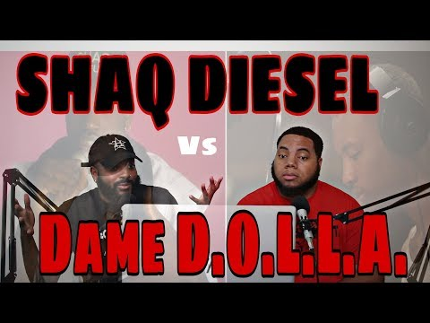 SHAQ DIESEL vs  DAME D.O.L.L.A. DISS TRACKS - REACTION!!