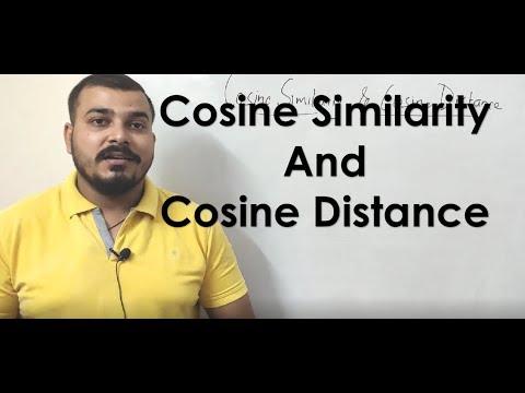 Cosine Similarity And Cosine Distance