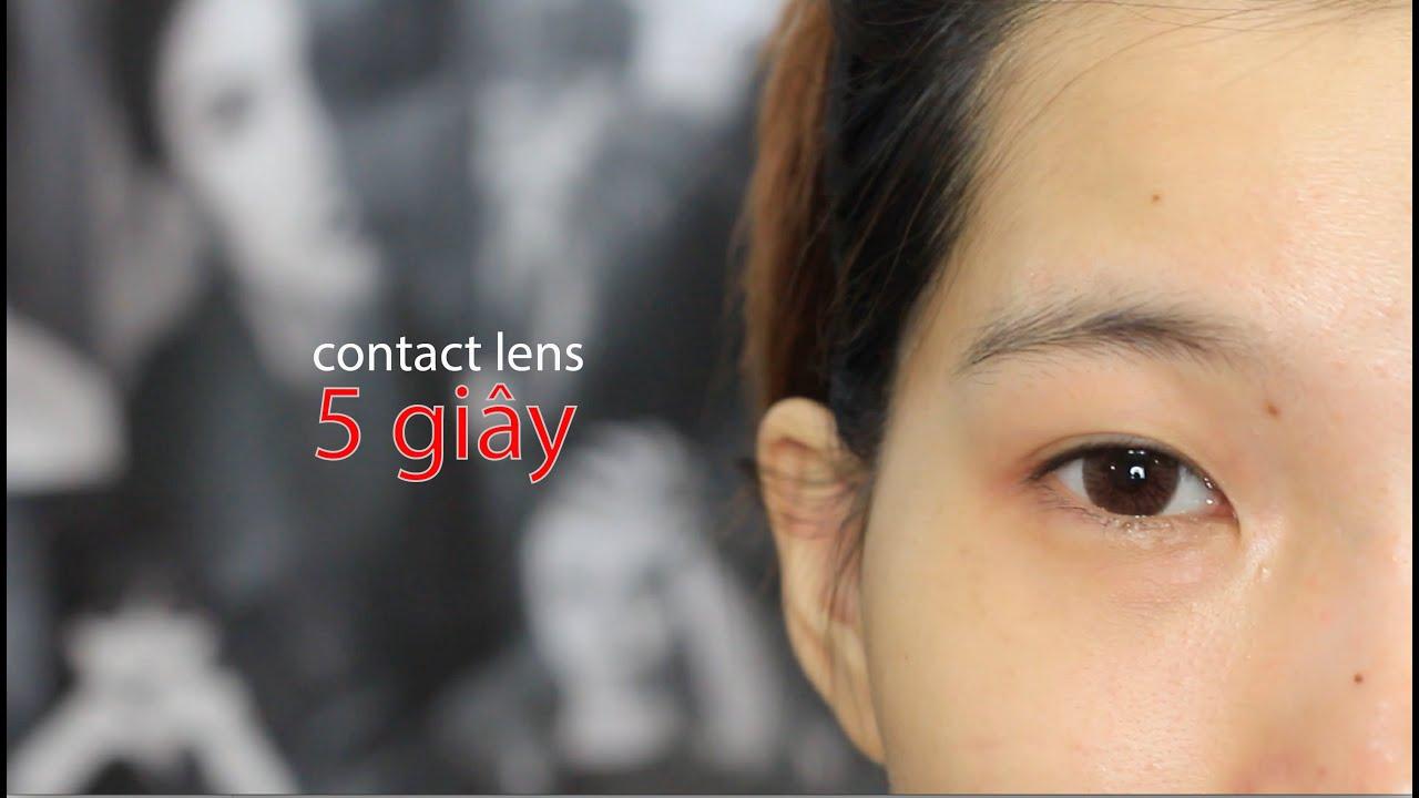 RƯ VLOG ♡ CÁCH ĐEO KÍNH ÁP TRÒNG TRONG 5 GIÂY – How to Put In Contact Lenses
