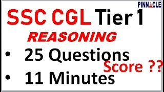 ssc cgl tier 1 2018 I reasoning previous year paper I 11 minutes time