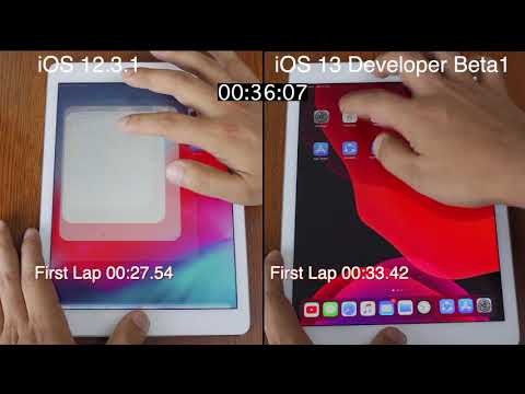 IOS 13 Beta 1 Vs IOS 12.3.1 Speed Test On IPad Pro | ISuperTech