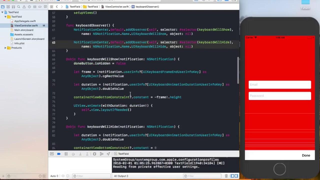 Swift Custom UIToolbar Keyboard Observers